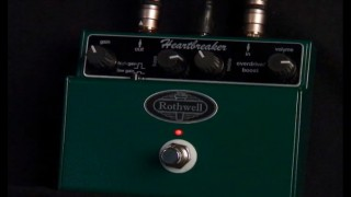 Rothwell Heartbreaker overdrive /  boost pedal from 440 Distribution.