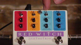 Demo of the Red Witch Synthotron pedal