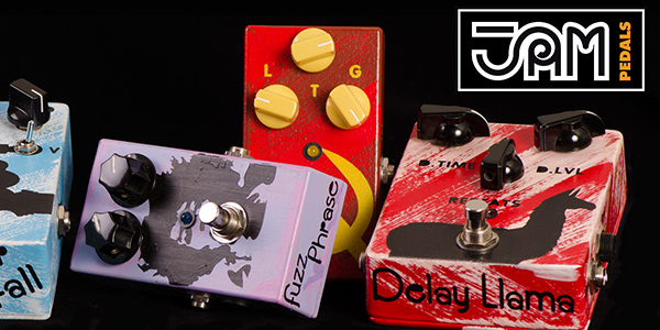 JAM Pedals, analogue effects pedals available from UK guitar distributor 440 Distribution.