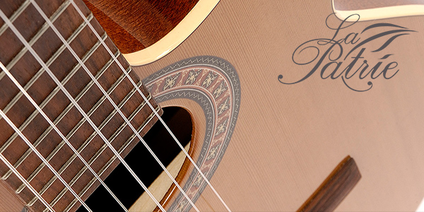 LaPatrie classical guitars by Godin, available in the UK and Ireland from 440 Distribution.